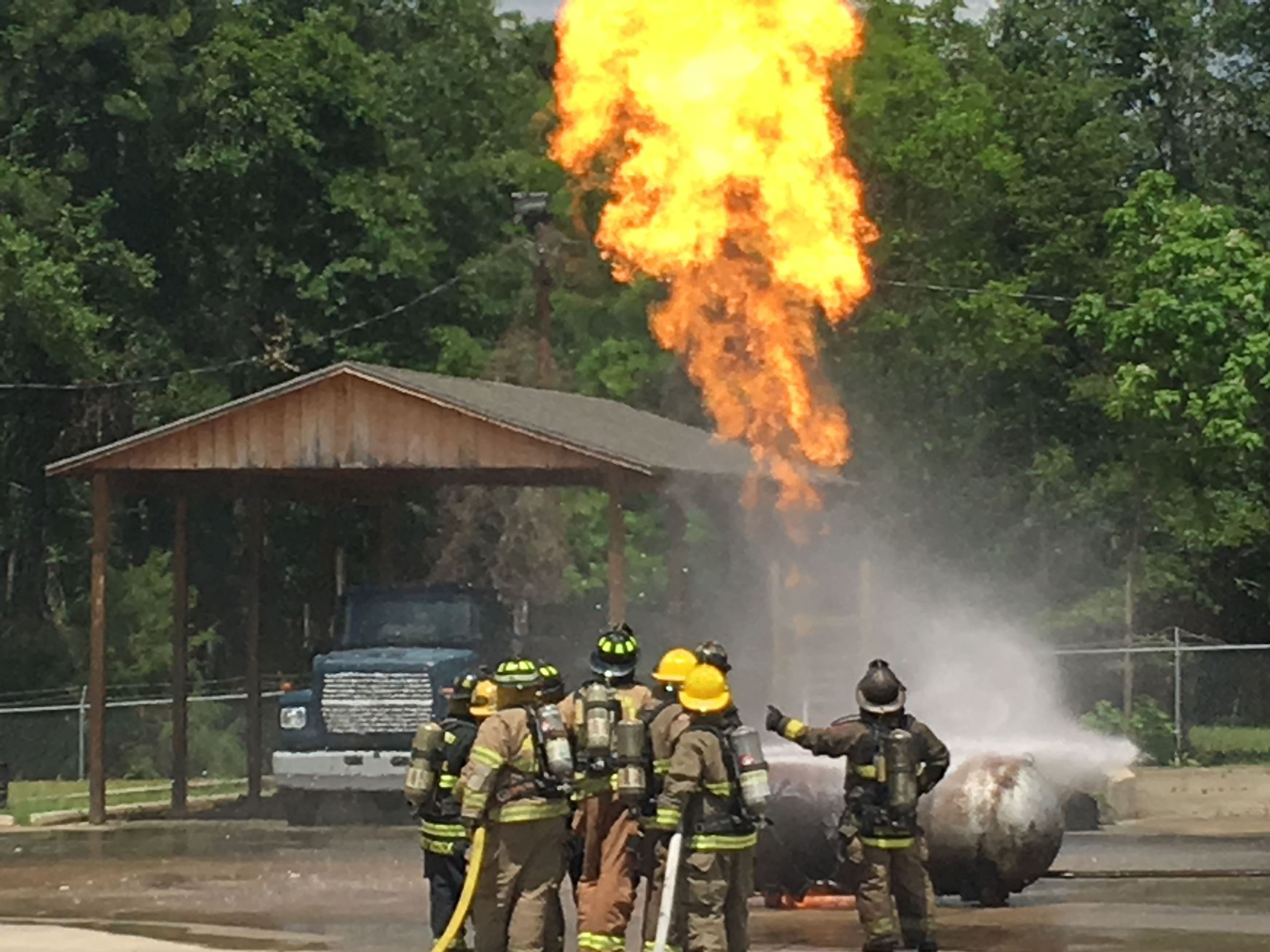 Pressurized Container Fire Training