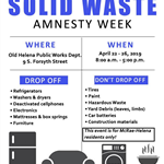 2019 Solid Waste Amnesty Week