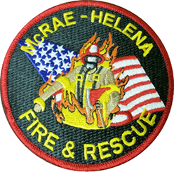 McRae Helena Fire and Rescue patch